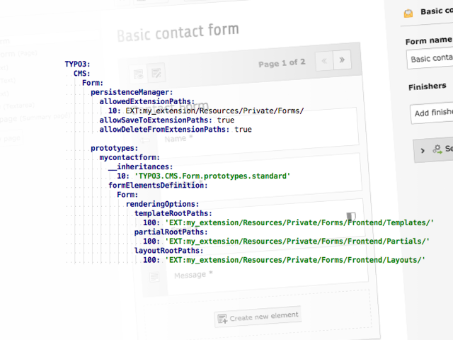 Illustration: YAML configuration for custom form templates