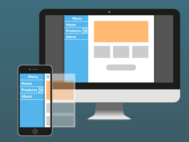 Illustration – jQuery.mmenu gets centered with whole page in widescreen