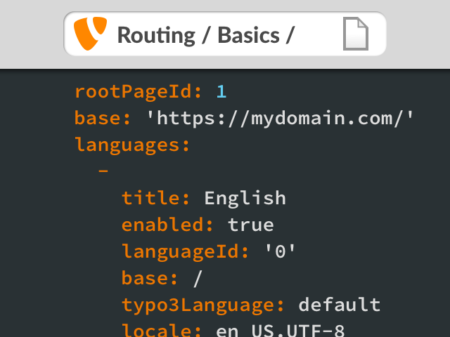 TYPO3 Routing: speaking URLs per Site Configuration