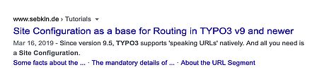 Google: search result with jump links (desktop view)