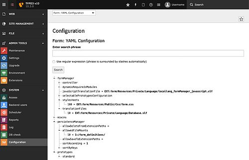 New submodule for YAML configuration